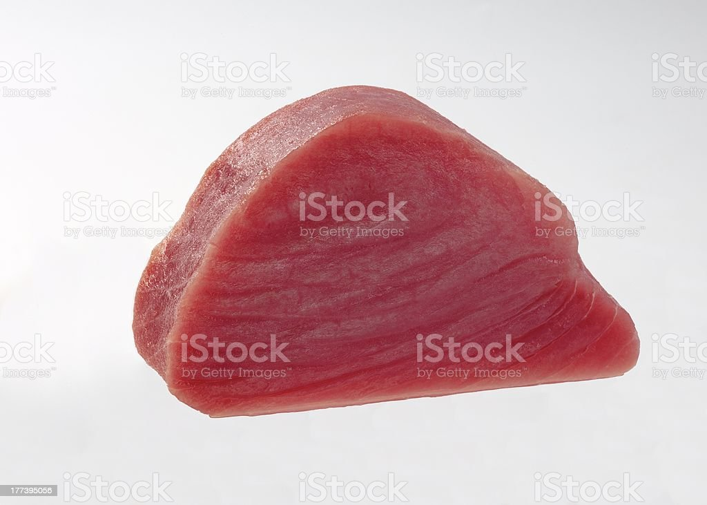Fillet of raw tuna royalty-free stock photo