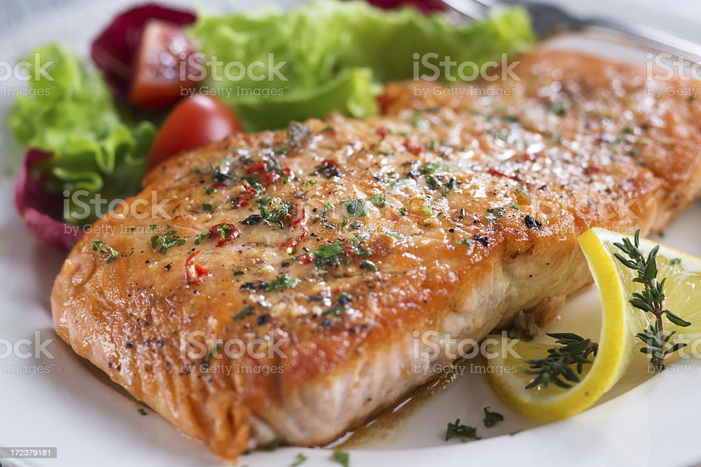 Fillet of Salmon stock photo
