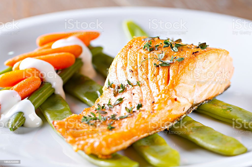 Fillet of Salmon royalty-free stock photo