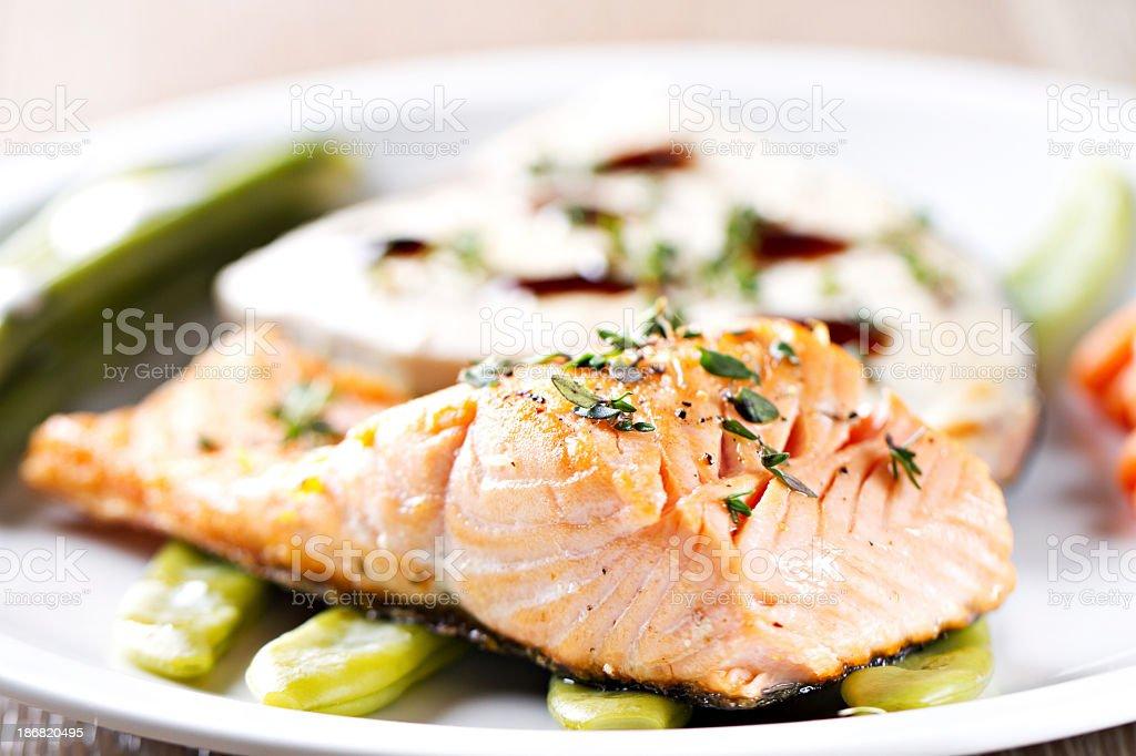 Fillet of Salmon. stock photo