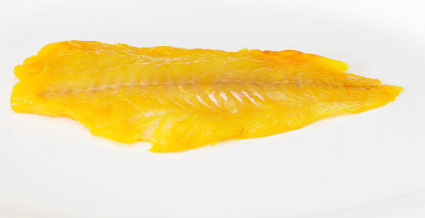fillet of smoked haddock stock photo