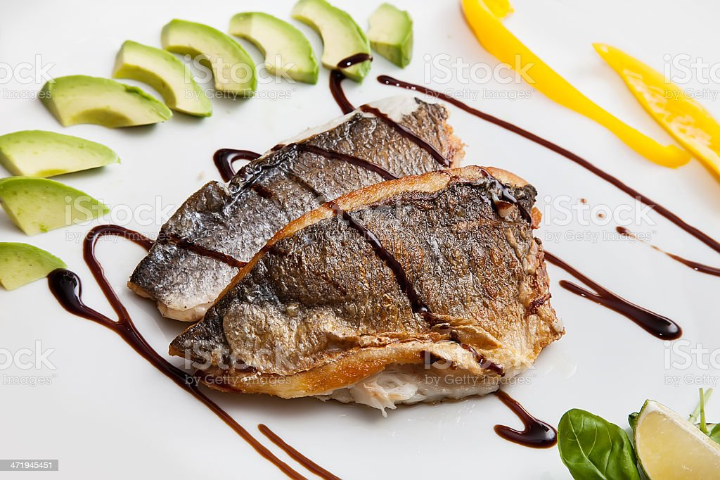 Fillet of white fish stock photo