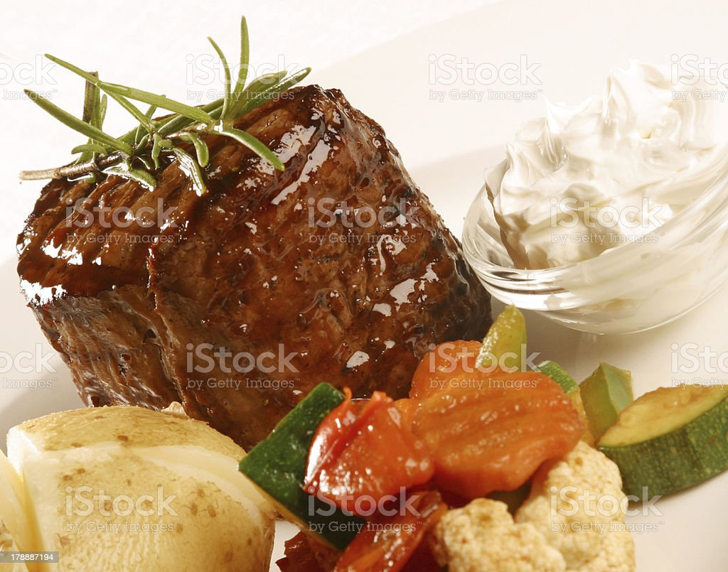 Fillet Steak with vegetables royalty-free stock photo