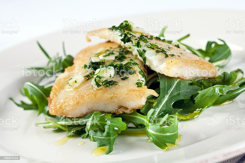 Fillet with rucola stock photo