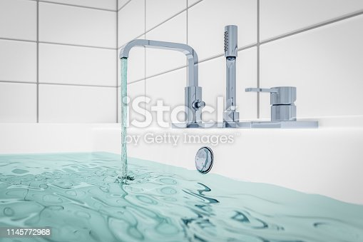istock filling a bathtub with water 1145772968
