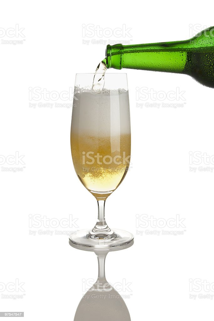 filling a glass of beer royalty-free stock photo