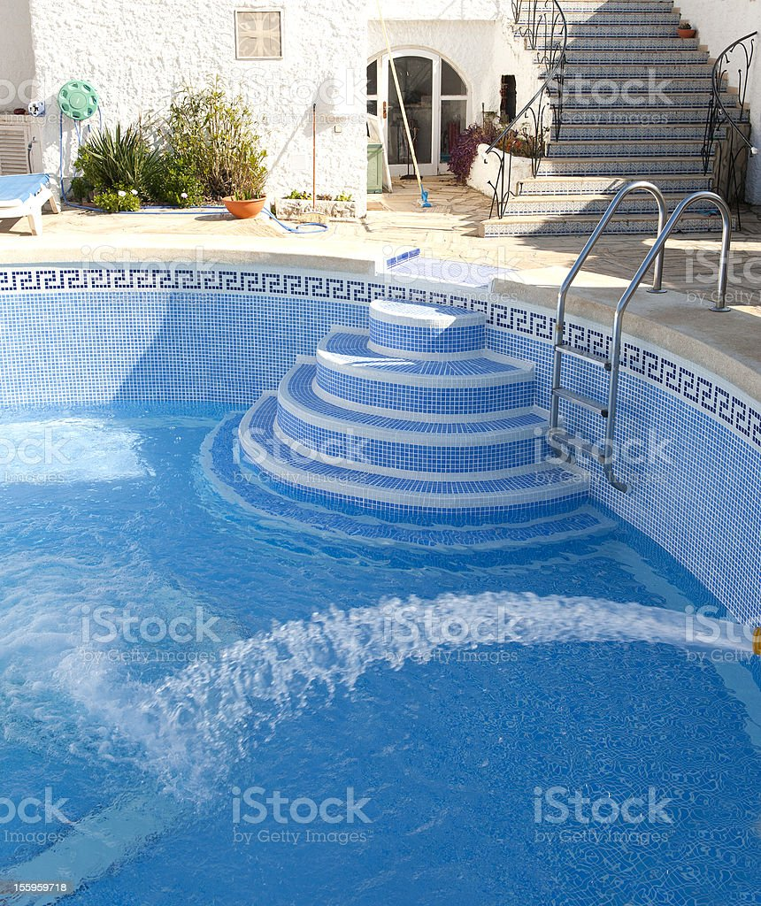 Filling A Swimming Pool With Water Stock Photo - Download ...