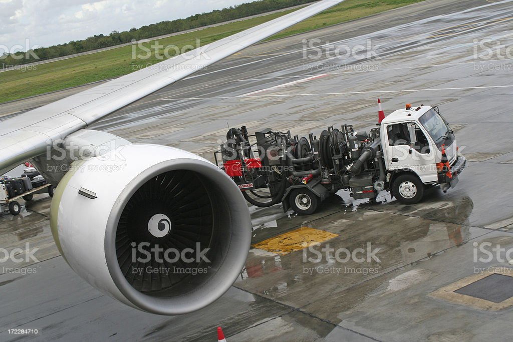 Filling airplane # 2 stock photo
