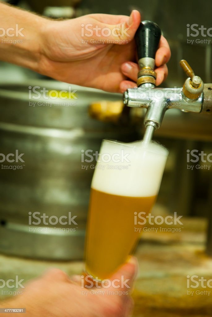 Filling Beer stock photo
