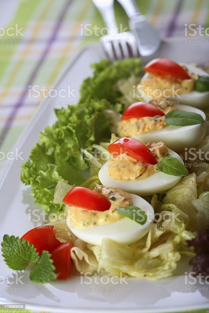 Filling egg royalty-free stock photo