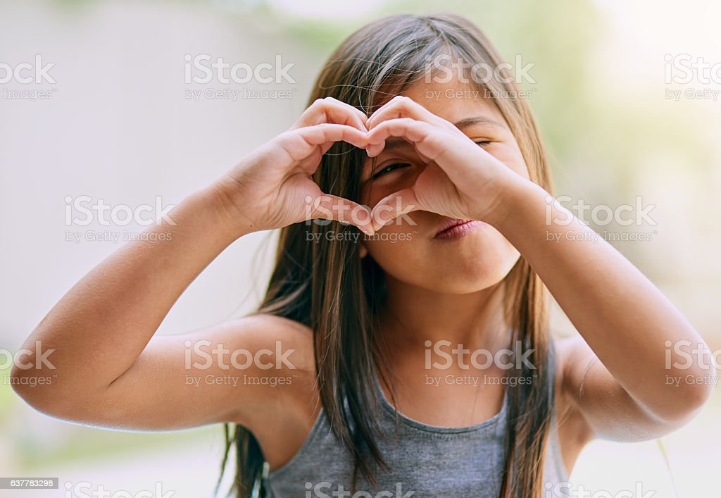 Filling life with love and happiness stock photo