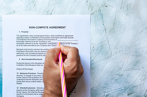 Filling Non-Compete Agreement form