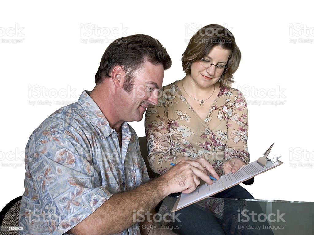 Filling Out Forms royalty-free stock photo