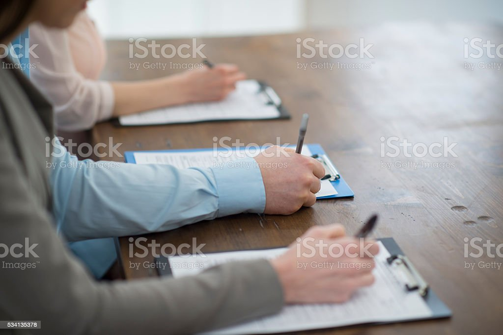 Filling Out Job Applications stock photo