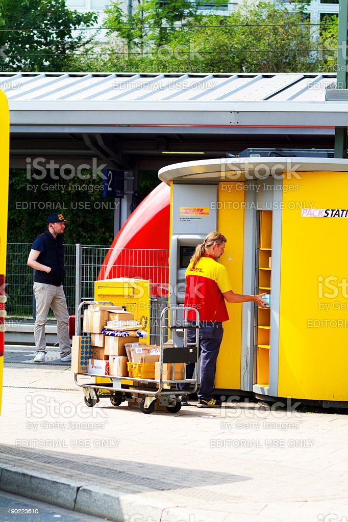 Filling package station stock photo