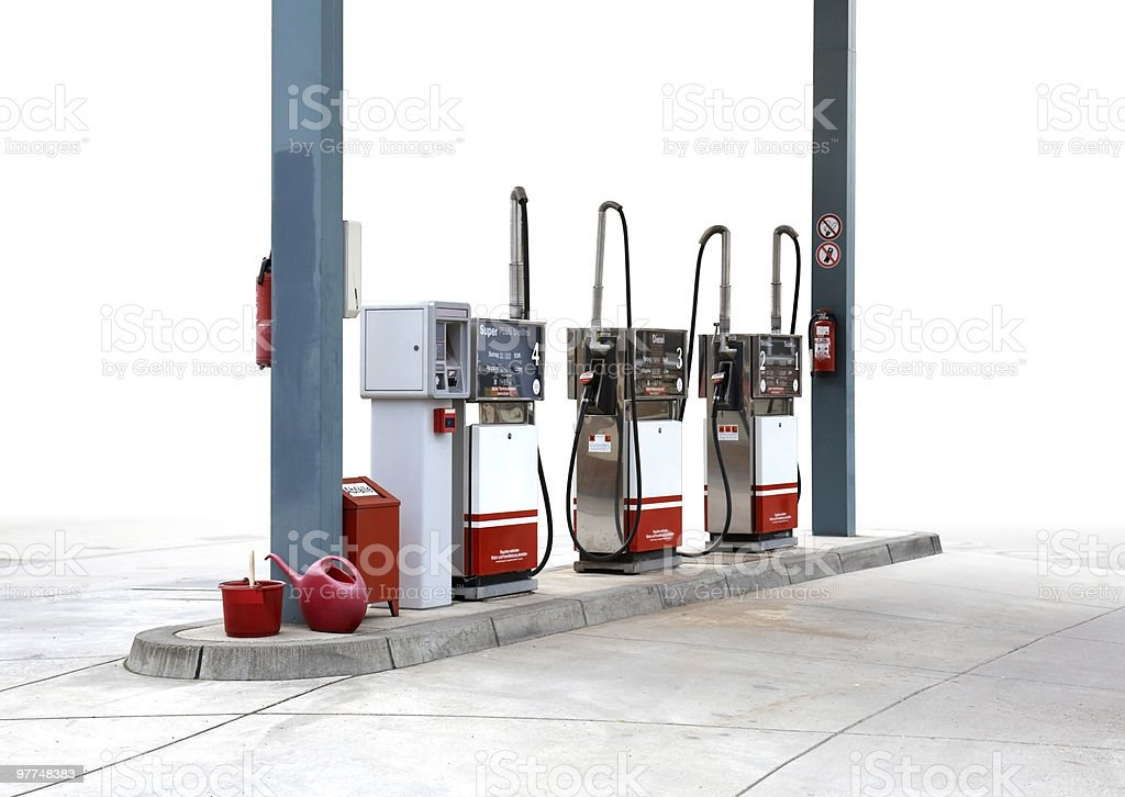 filling pump scenery royalty-free stock photo