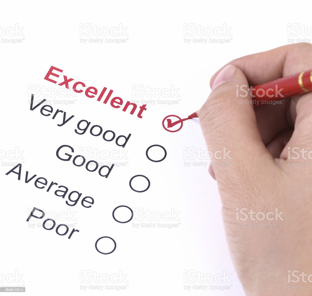 Filling questionnaire form royalty-free stock photo