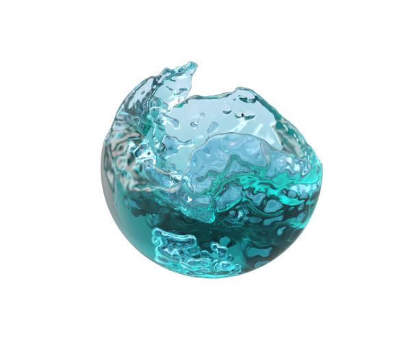Füllung des Balls mit blauem Wasser – Foto