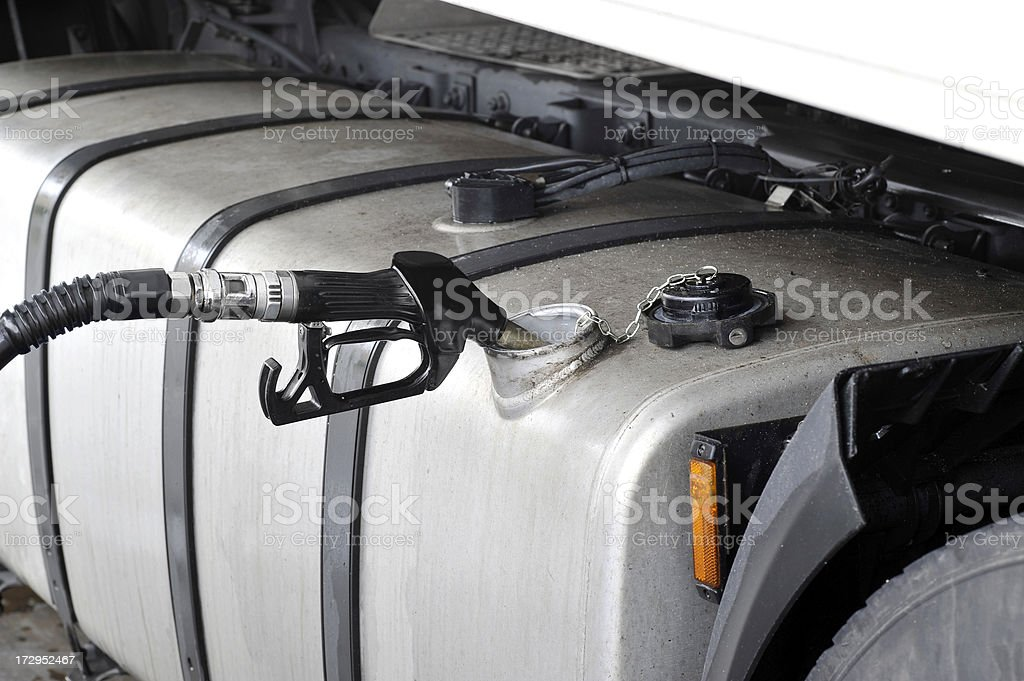 Filling the gas tank royalty-free stock photo