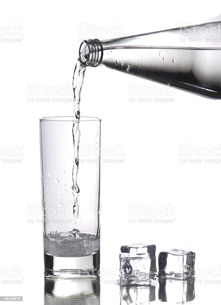 Filling the glass royalty-free stock photo