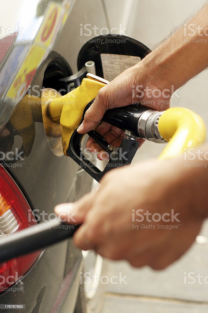 Filling the tank royalty-free stock photo