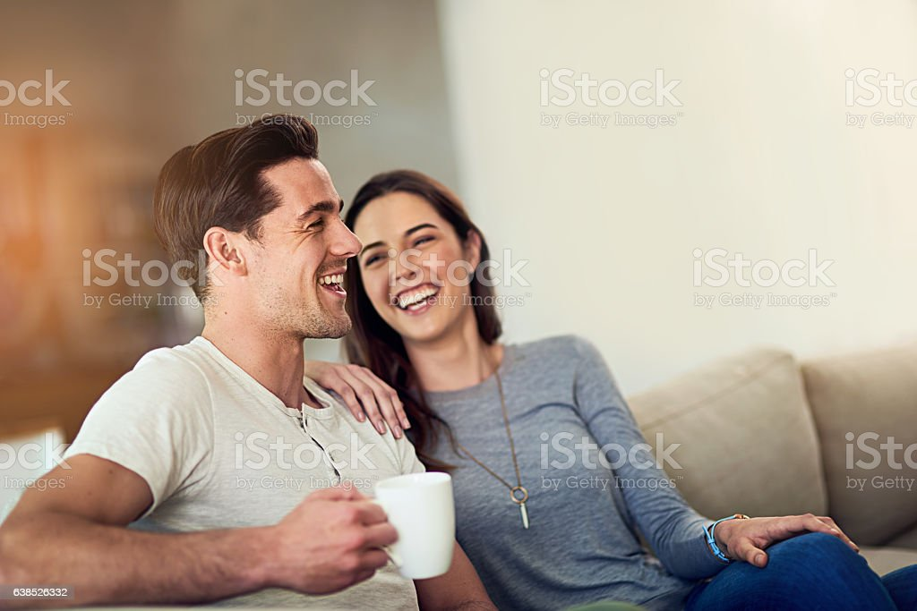 Filling their home with love and laughter stock photo