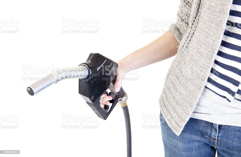 Filling up stock photo