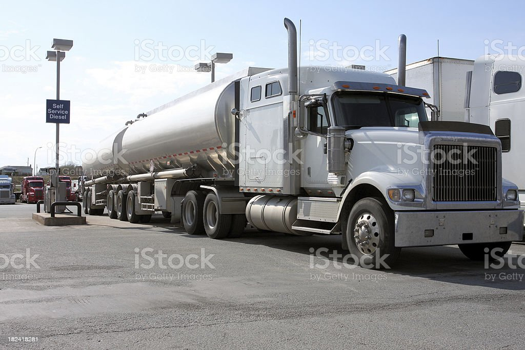 Filling Up royalty-free stock photo