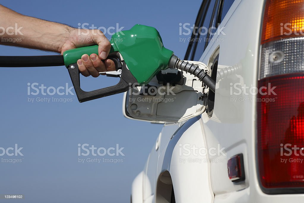 filling up the car with gas royalty-free stock photo