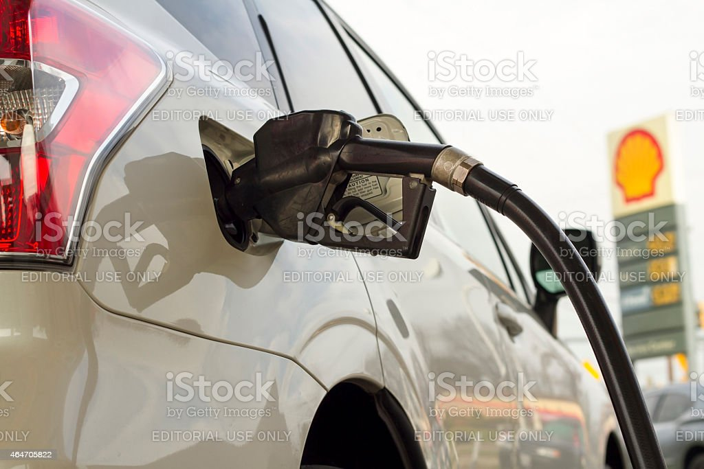 Filling up the Gas Tank stock photo