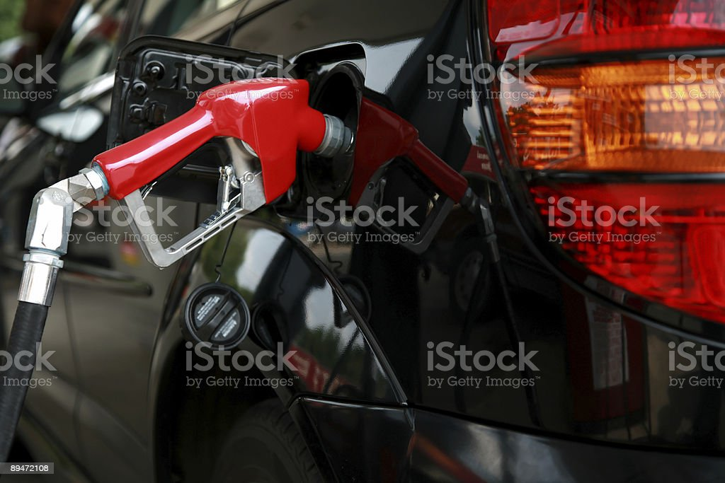 filling up the tank royalty-free stock photo