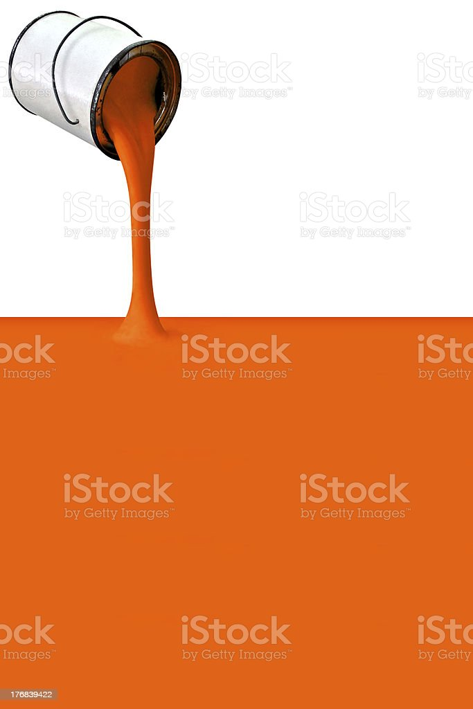 Filling with orange stock photo