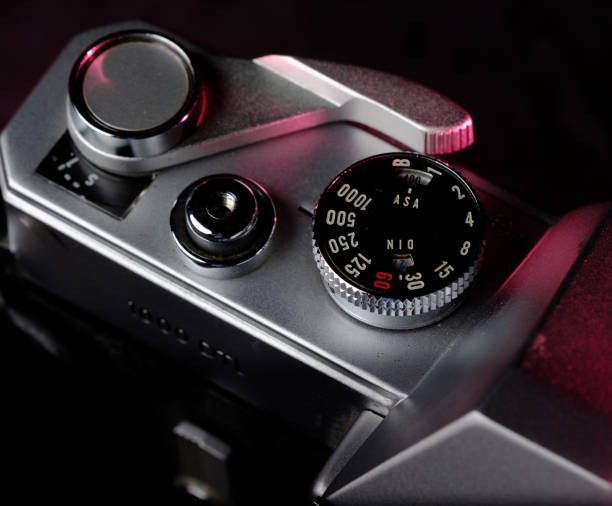 Film Camera Details stock photo