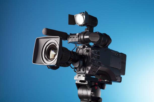 Film camera in the studio stock photo