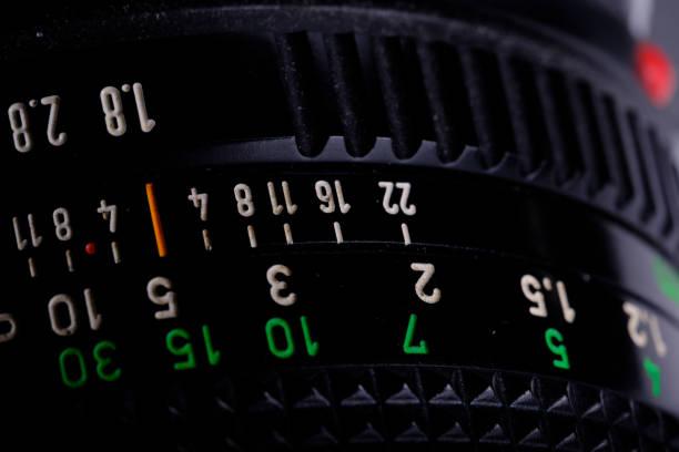 Film Camera Lens stock photo