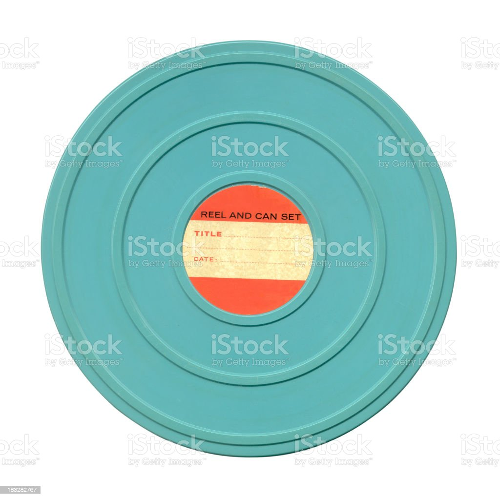 Film can and label royalty-free stock photo