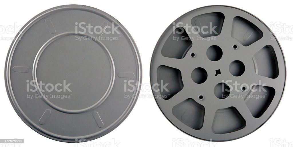 Film Can and Reel stock photo