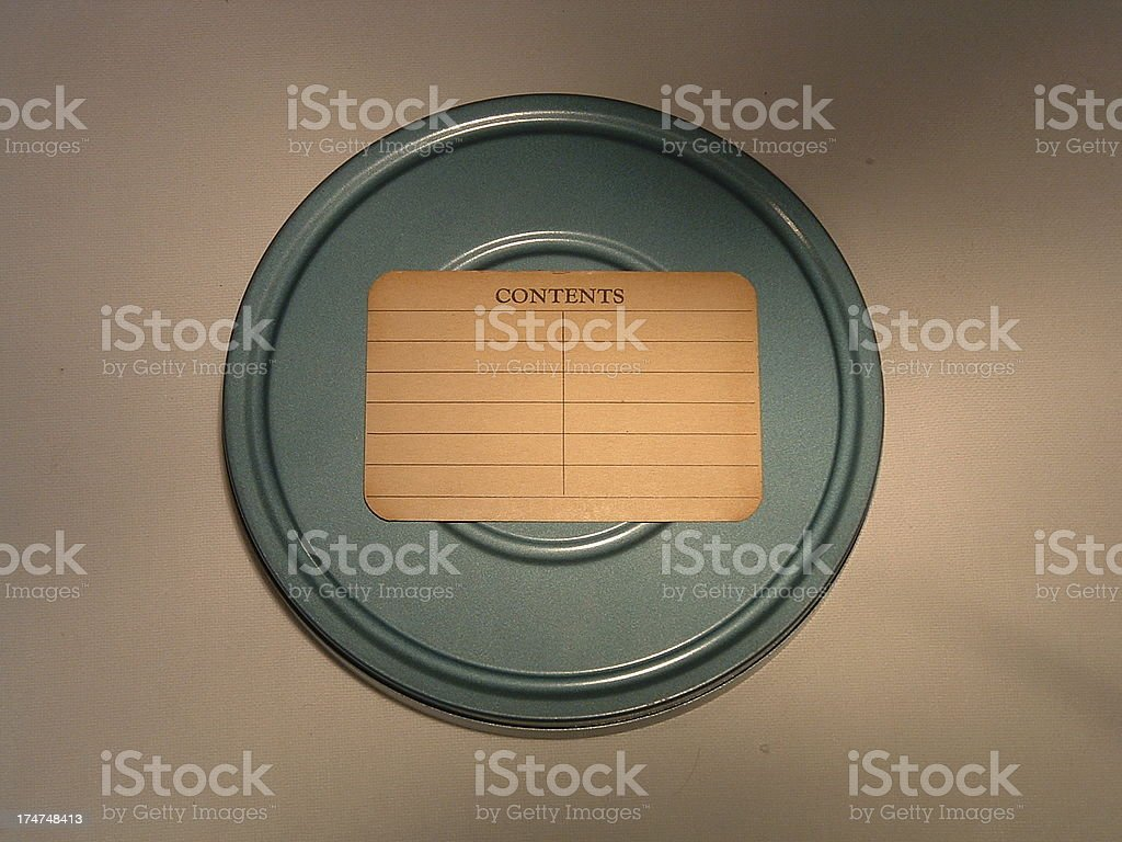 Film Can with Label stock photo