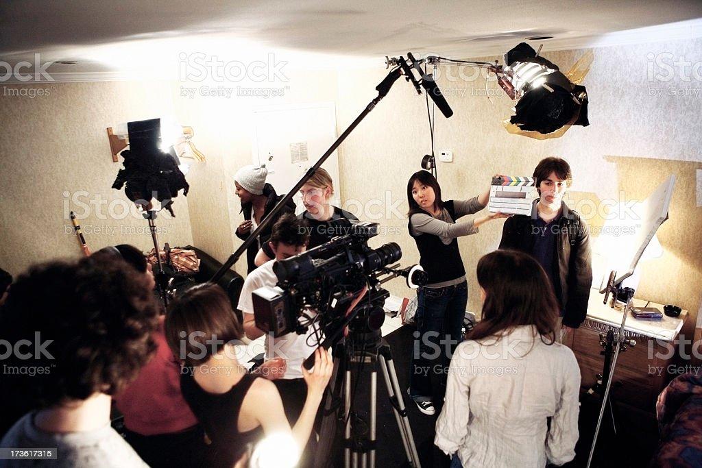 Film Crew - On Location stock photo