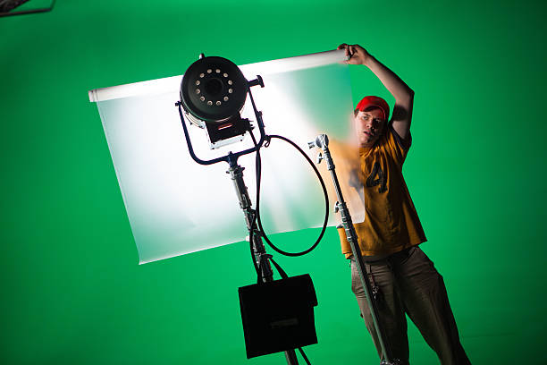 Film Crew stock photo