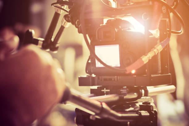 film crew. - director stock photos and pictures
