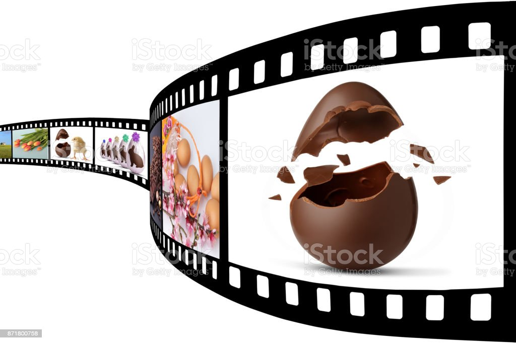 Film depicting Easter stock photo