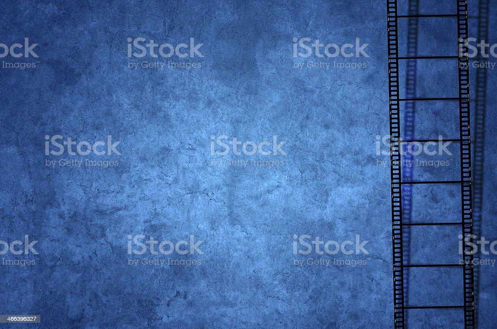 Film, Filmstreifen, Foto, Hintergrund Blau stock photo