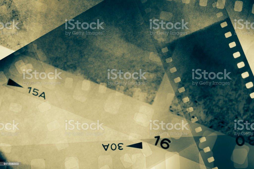 Film frames background stock photo