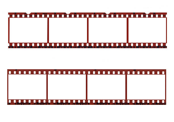 Film Frames Scanned images of two different types of old film. Great design element. film negative stock pictures, royalty-free photos & images