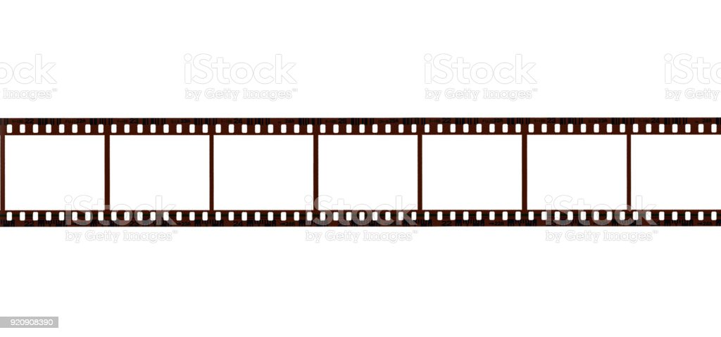 Film, isolated on white background. Contact Sheet stock photo