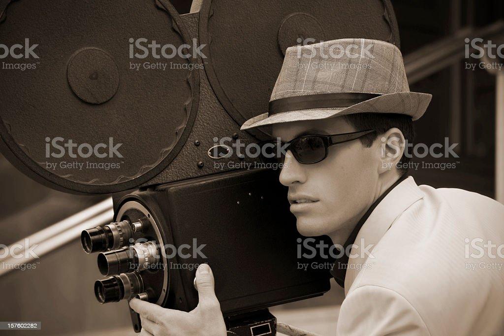 Film maker royalty-free stock photo
