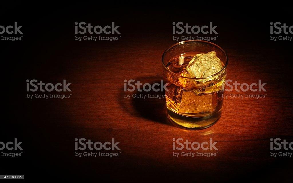 Film Noir Bourbon on the Rocks stock photo