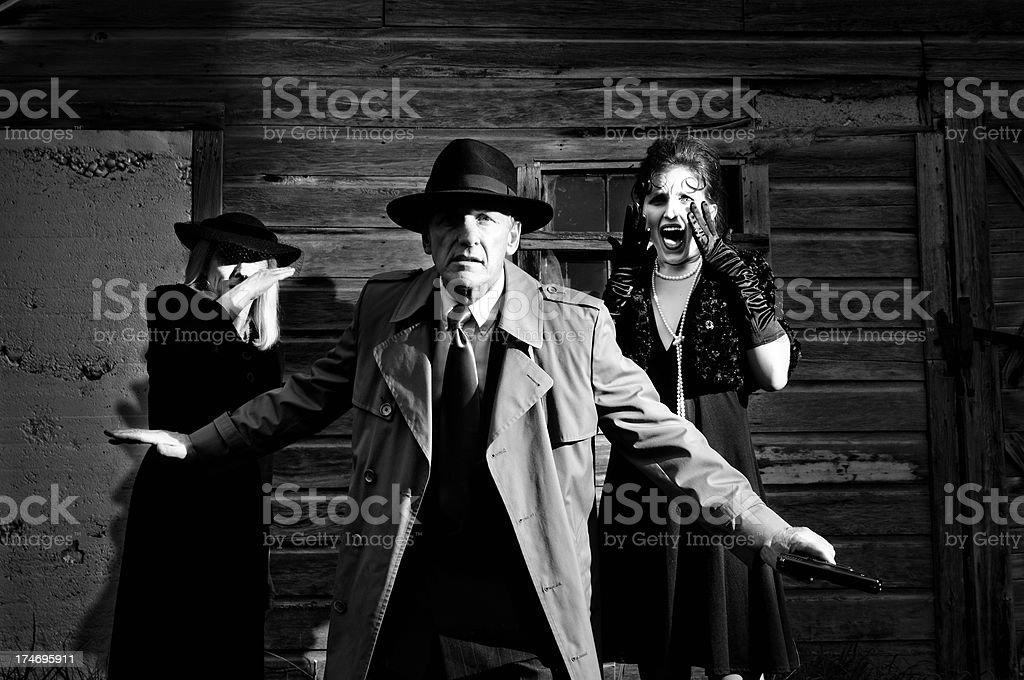 Film Noir Crime stock photo