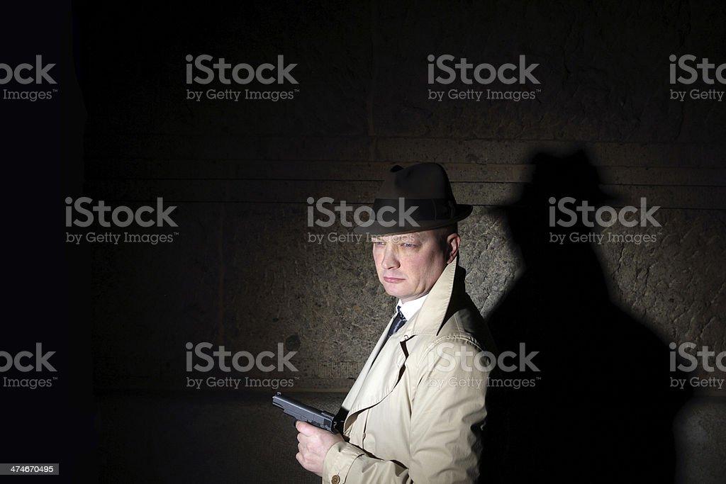 film noir male detective royalty-free stock photo